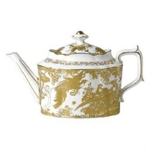 Royal Crown Derby Gold Aves Large Teapot
